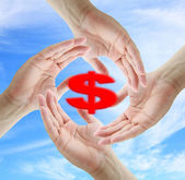Photo Saving Dollar Concept