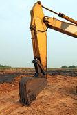 Fotografie Part of Excavator Loader with backhoe