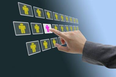Electronic business recruitment