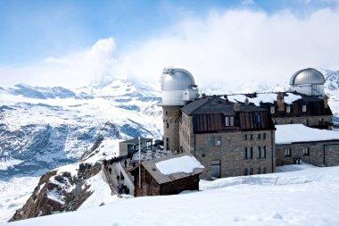 Gornergrat Observatory and Matterhorn Switzerland