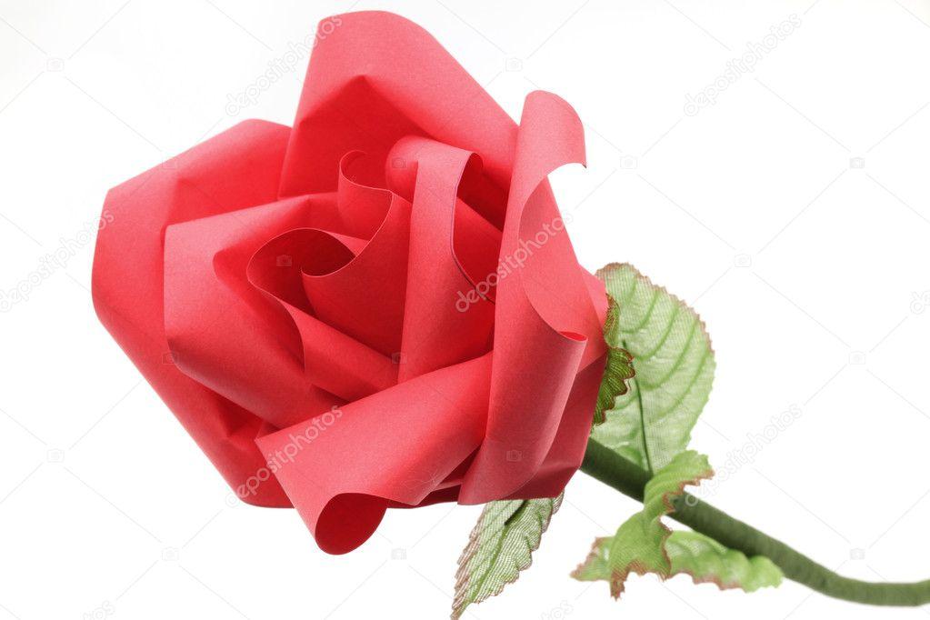 artisanat en papier origami fleur rose photographie vichie81 11146735. Black Bedroom Furniture Sets. Home Design Ideas