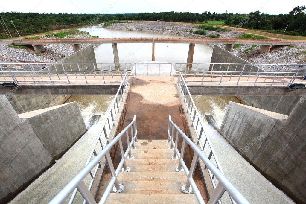 Water gates at dam