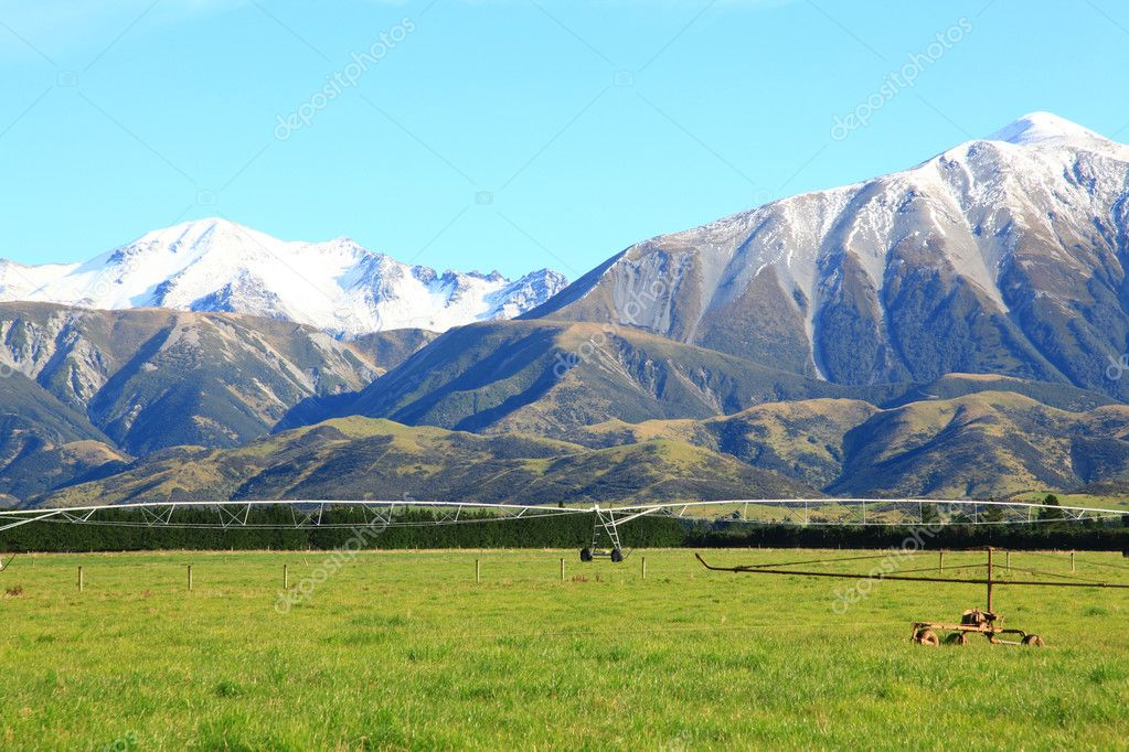 Southern alps in New Zealand