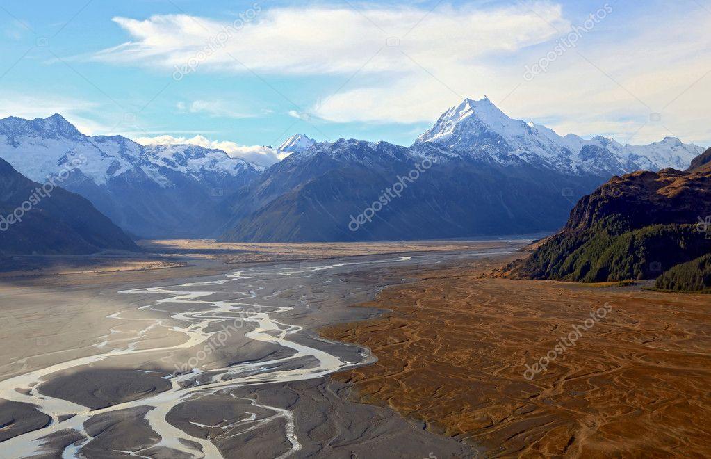 Mountain Cook Landscape New Zealand