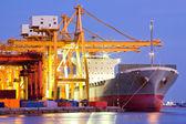 Fotografie průmyslové kontejnerová nákladní loď