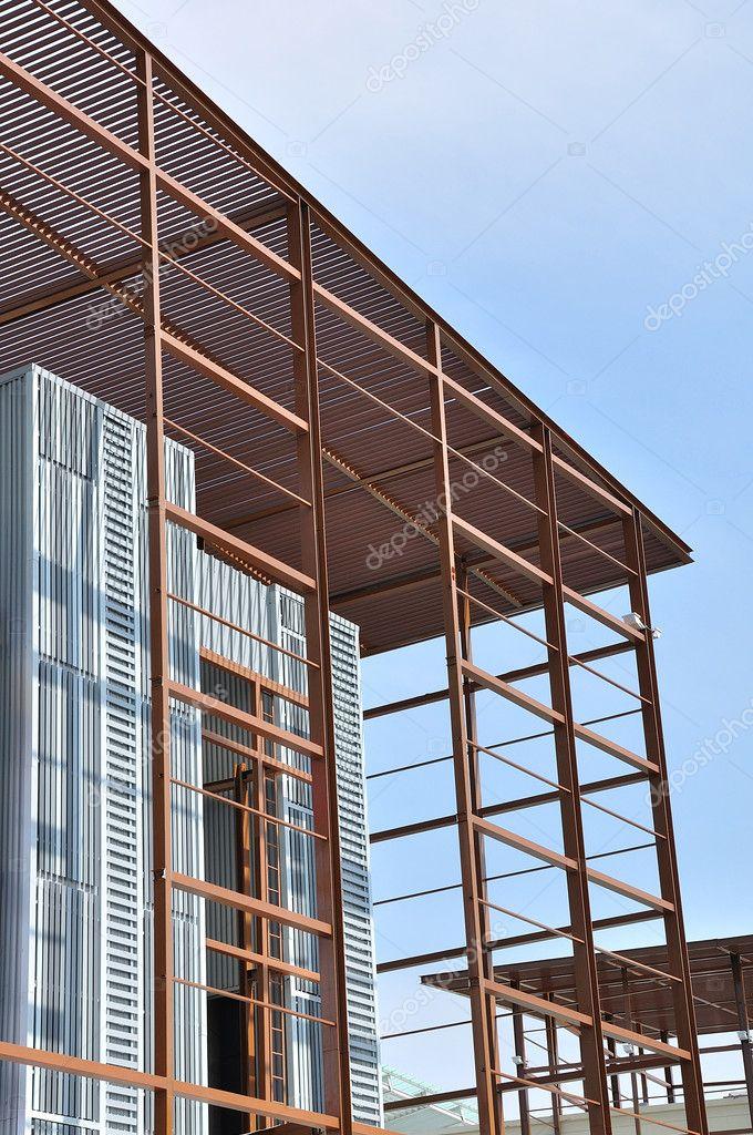 Stahl-Bau-Konstruktions-Rahmen — Stockfoto © tigger11th #12376317
