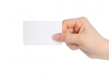 Hand holds charge card