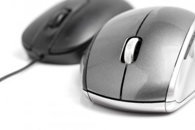 Closeup on wireless mouse