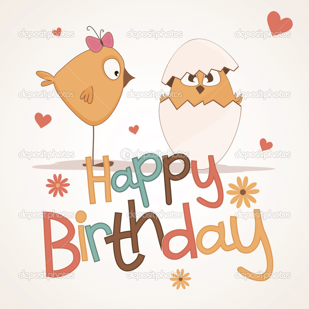 Cute happy birthday card stock vector nnfotograf 11589847 cute happy birthday card stock vector bookmarktalkfo Images
