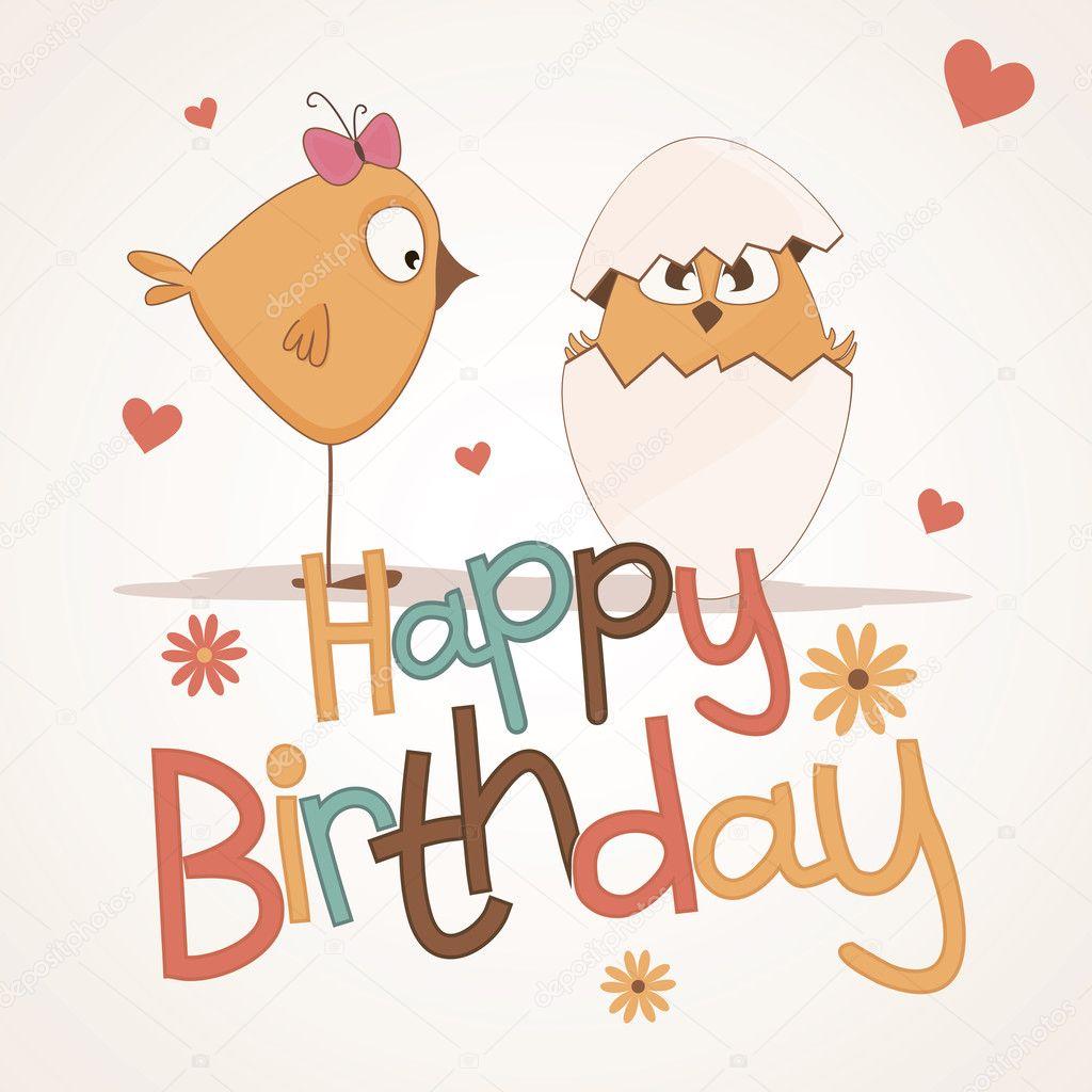 Cute happy birthday card Vector nnfotograf 11589847 – Cute Happy Birthday Cards