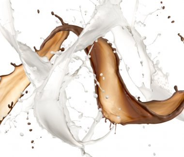 Milk and chocolate splash