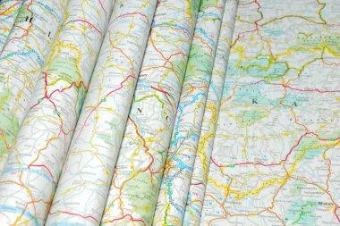 Maps folded