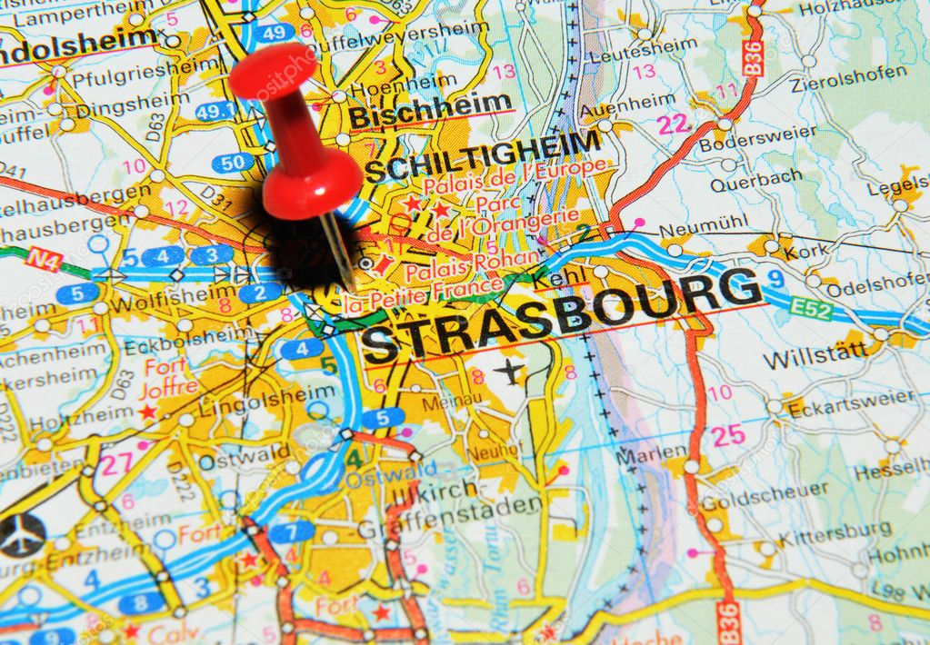 estrasburgo mapa Estrasburgo, Francia — Foto de stock © lucianmilasan #11558547 estrasburgo mapa