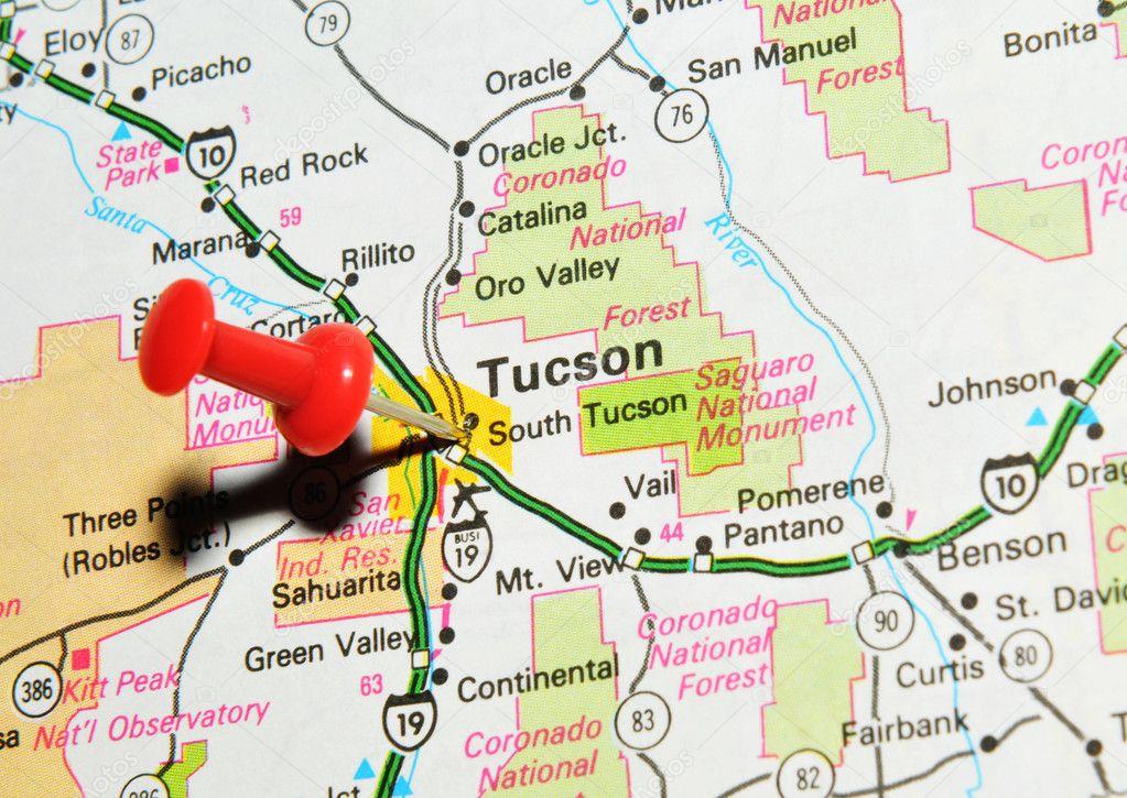 Tucson Arizona Karte.Tucson Arizona Stockfoto C Lucianmilasan 11561147