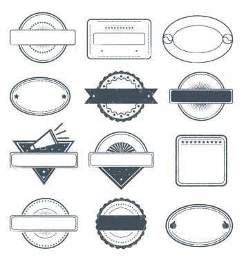 This is a set of high details grunge stamp frames... clip art vector
