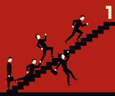 Businessman Stair Competition