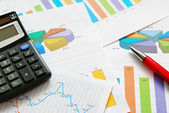 Fotografie Financial graphs and charts