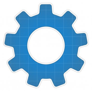 Blueprint Gear Icon