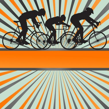 Sport road bike rider bicycle silhouette burst background