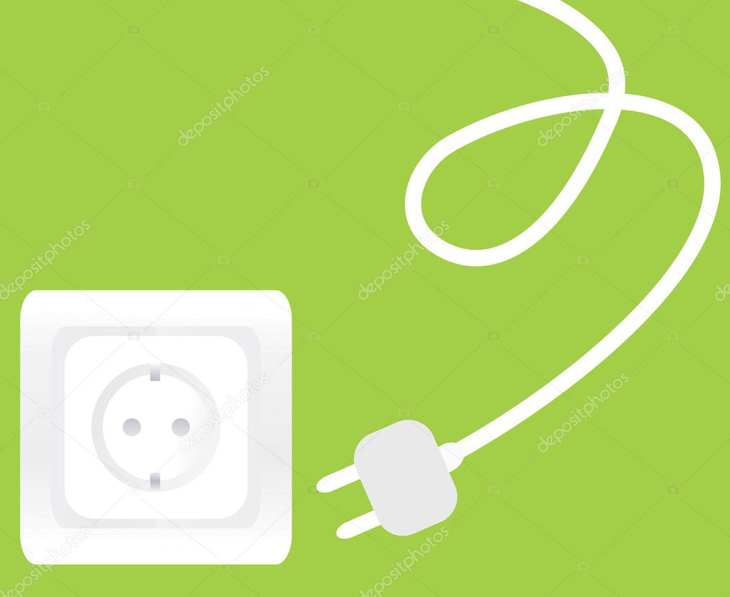 Socket and plug vector background