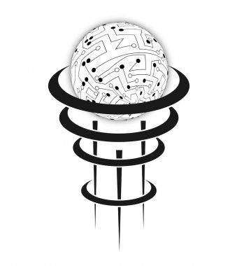 Vector circuit board sphere. Eps10 illustration