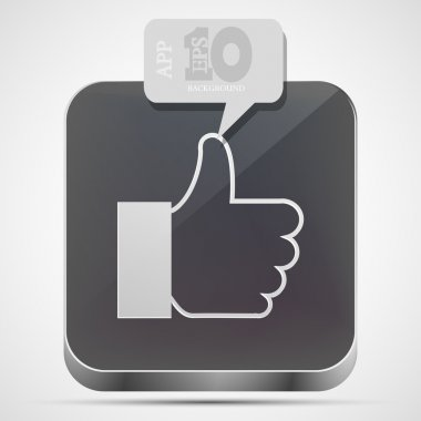 Vector like app icon with gray bubble speech. Eps10
