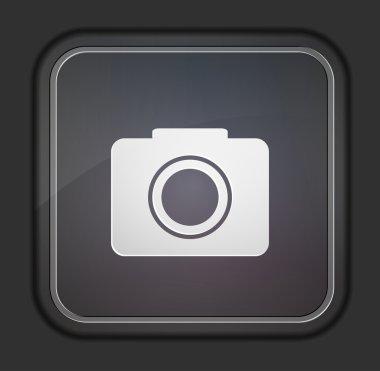 Vector version. Camera icon. Eps 10 illustration. Easy to edit