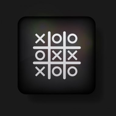 Vector tic tac toe icon on black. Eps 10