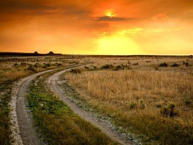 Sunset in Prairie