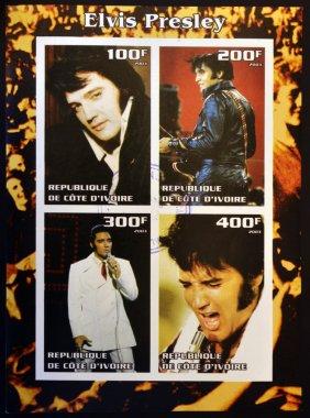 IVORY COAST - CIRCA 2003: collection stamps shows Elvis Presley, circa 2003