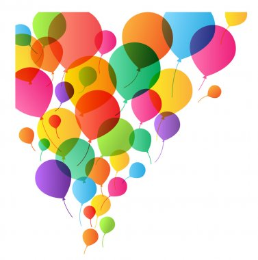 Colorful Balloons Background, vector illustration for design