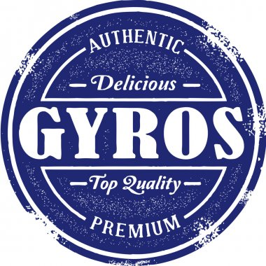 Vintage Greek Gyro Food Stamp