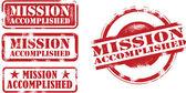 Fotografia francobolli di missione compiuta