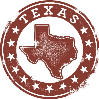 Classic Style Texas USA Stamp