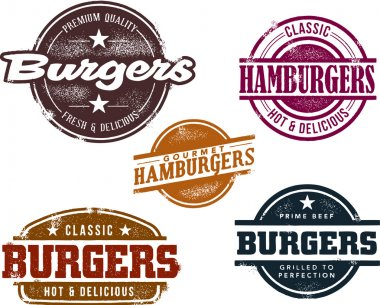 Classic Style Hamburger Stamps
