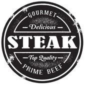 Fényképek Vintage Steak bélyegző
