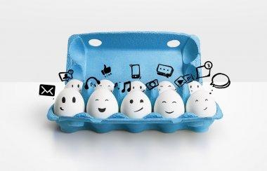 Social network eggs