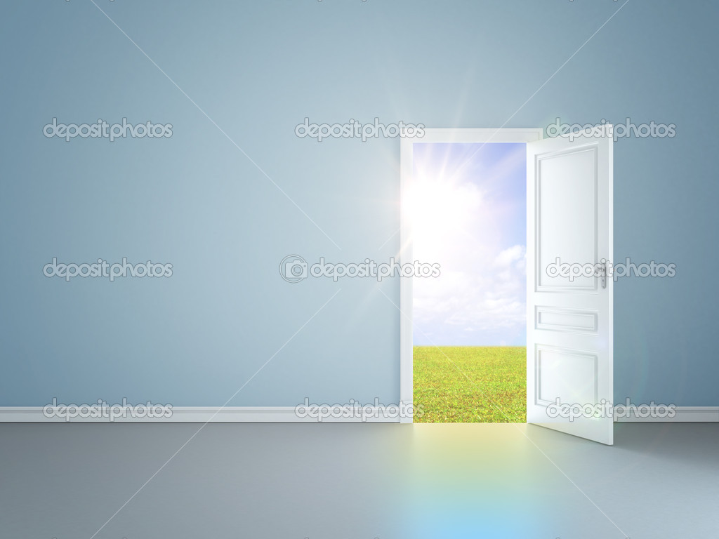 Door in field