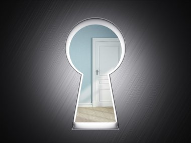 Room in keyhole