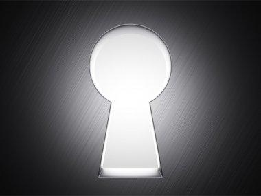 White keyhole