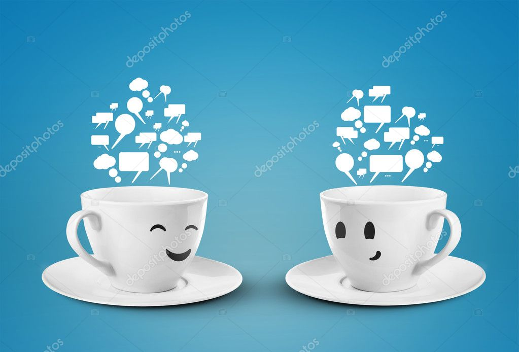 Two happy cup