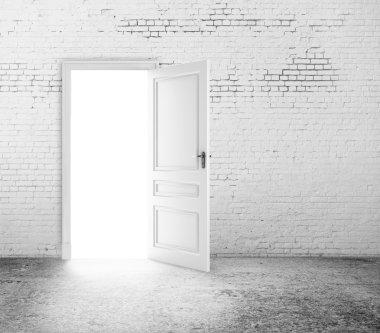 Open door in room