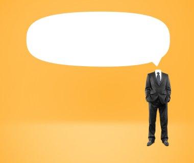 Speech bubble head