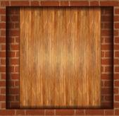 Vector background texture brick wood frame
