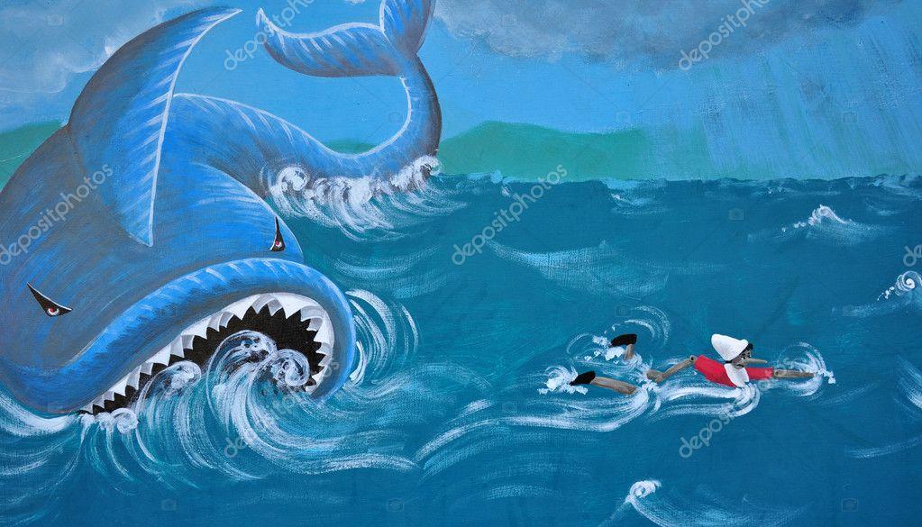 La balena e pinocchio foto stock rossosiena 11006623 - Baleine pinocchio ...