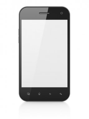 Beautiful smartphone on white background. Generic mobile smart