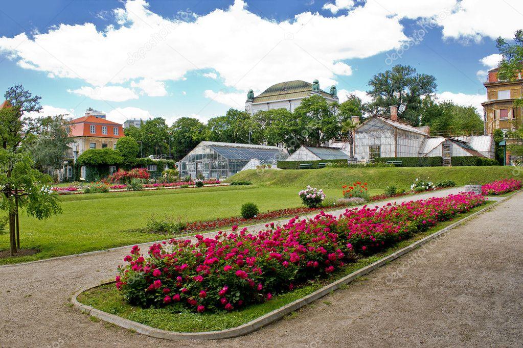 Botanical garden in Town of Zagreb