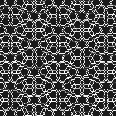 Black and white islamic pattern