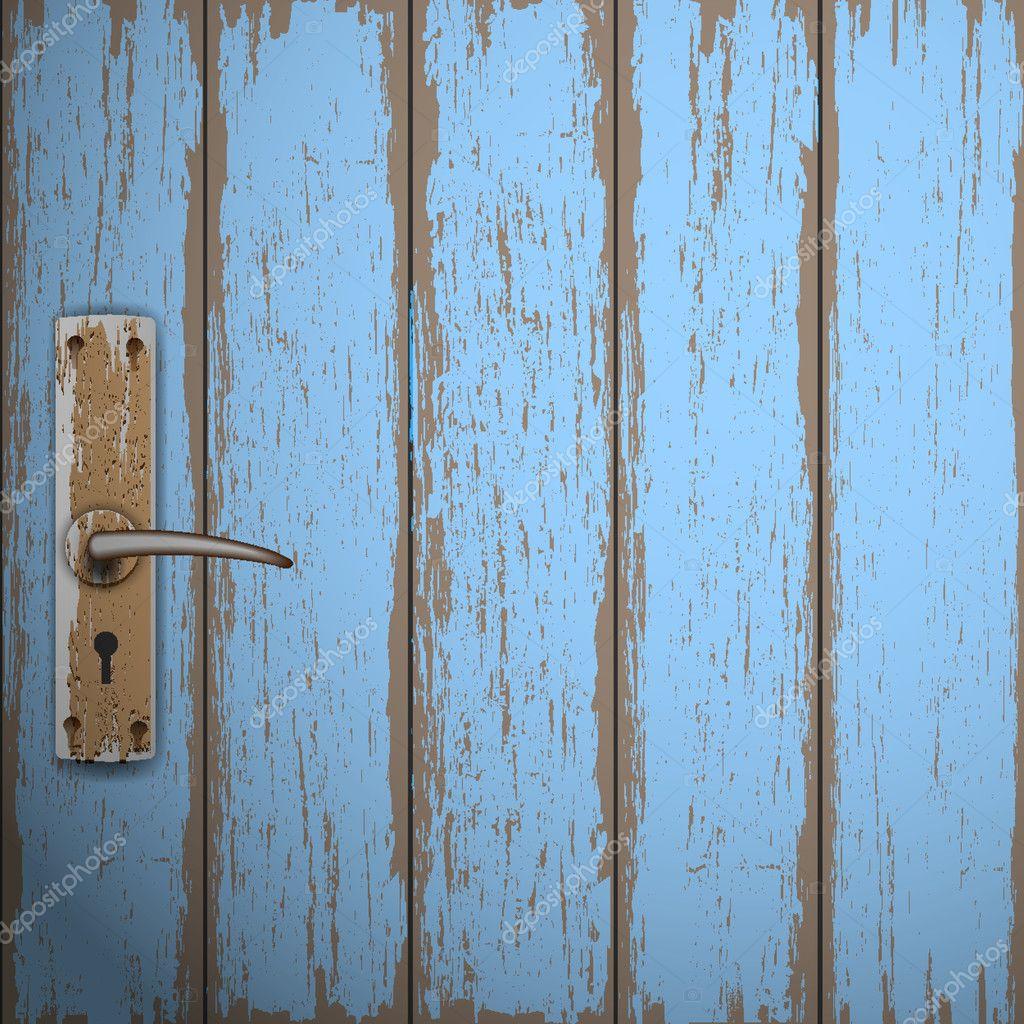 Old wooden door — Stock Vector © A-R-T-U-R #11959974