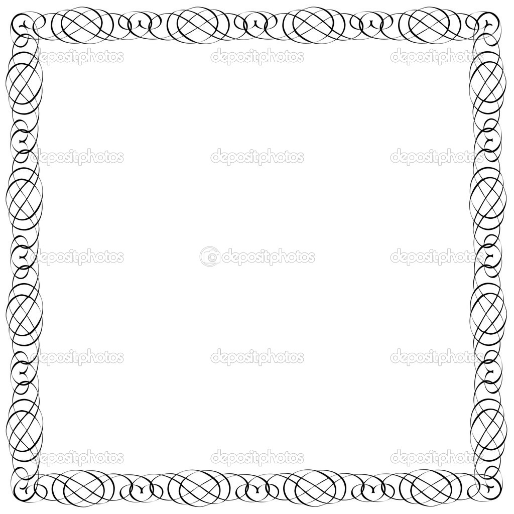 Simple Calligraphic Frame For Design Stock Vector